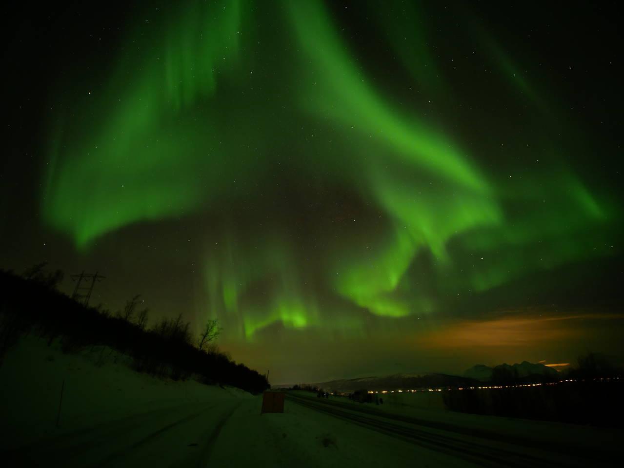 Aurora is dancing in the sky