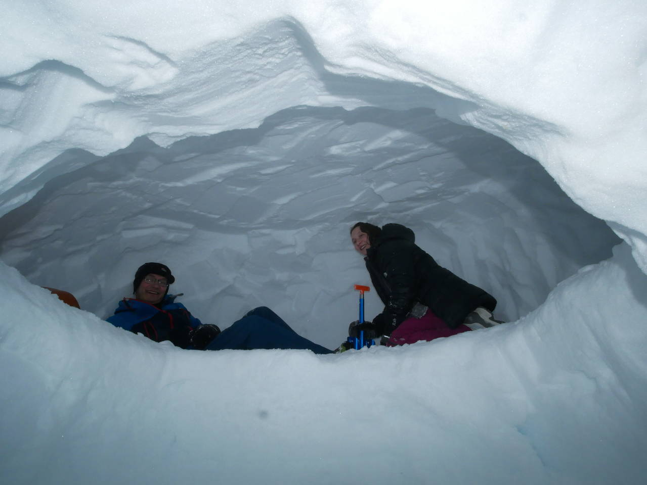 Making a snowcave